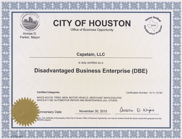 Houston Disadvantaged Business Enterprise